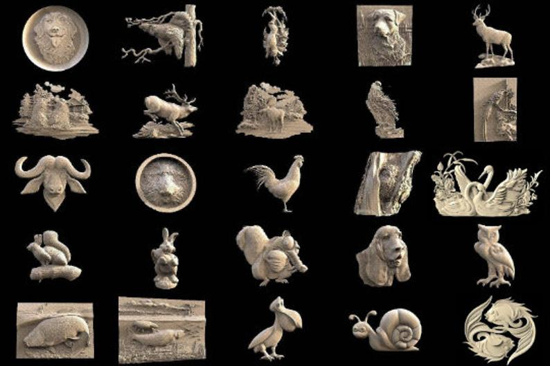 121 pcs Animals 3D STL Models Collection Set