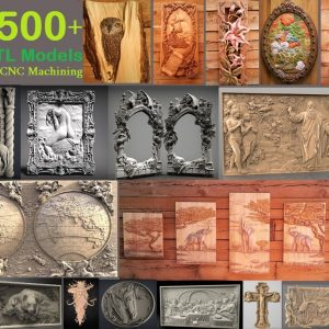 3d stl models collection for cnc router and 3d printer