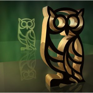 owl stand cnc file