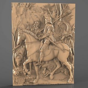 Knight at the horse cnc file