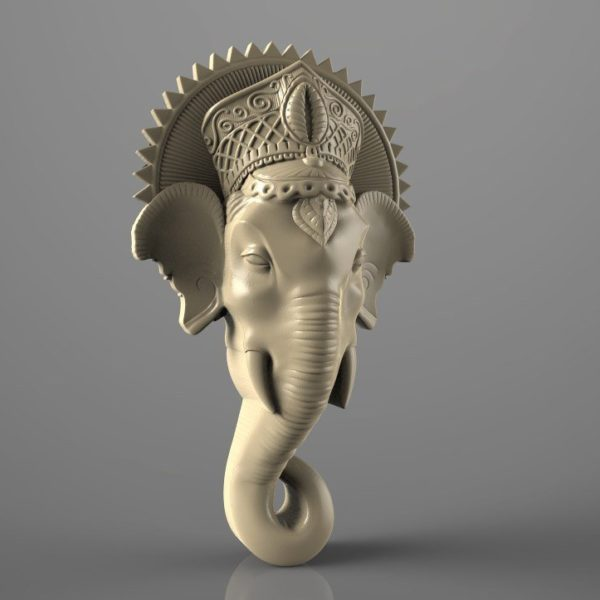 elephant head cnc file model