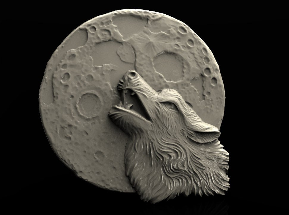 woolf moon cnc file model