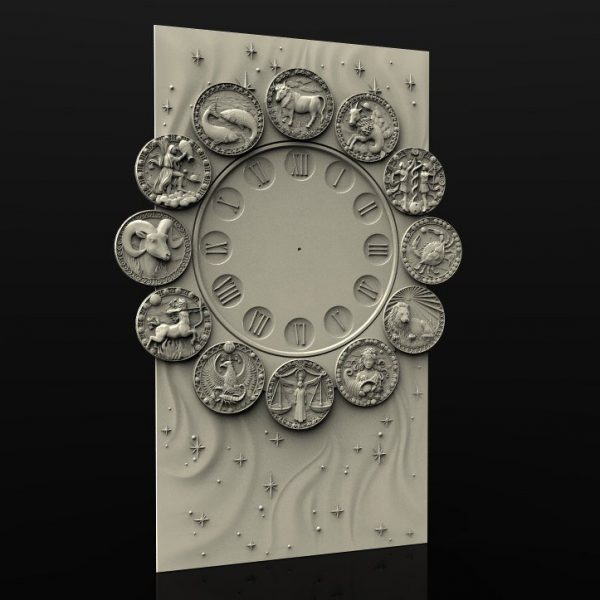 Zodiacal Wall Clock cnc file