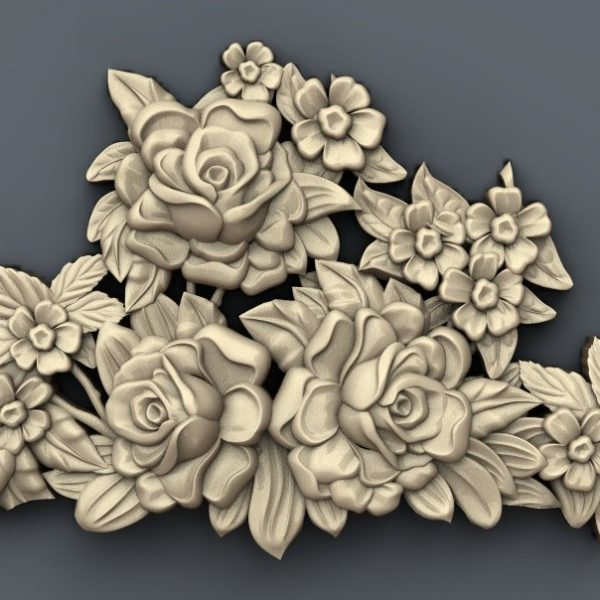 flowers decor cnc file model