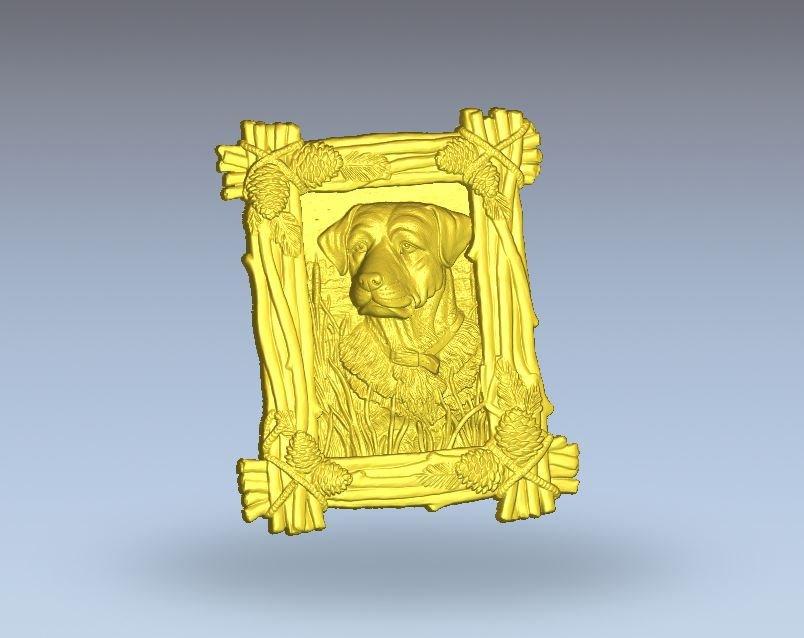 dog cnc file model