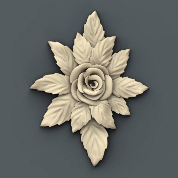 flower cnc file model