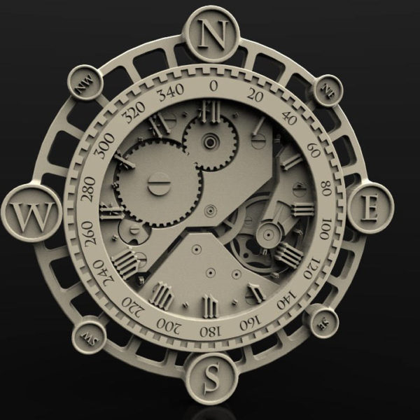 clock cnc file model
