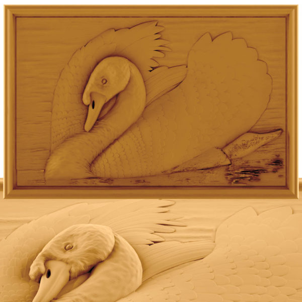 swans wall decor cnc file