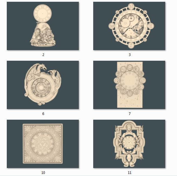 wall clock collection cnc file