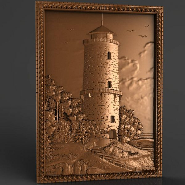 Lighthouse cnc file model