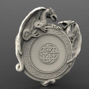 Dragon clock cnc file