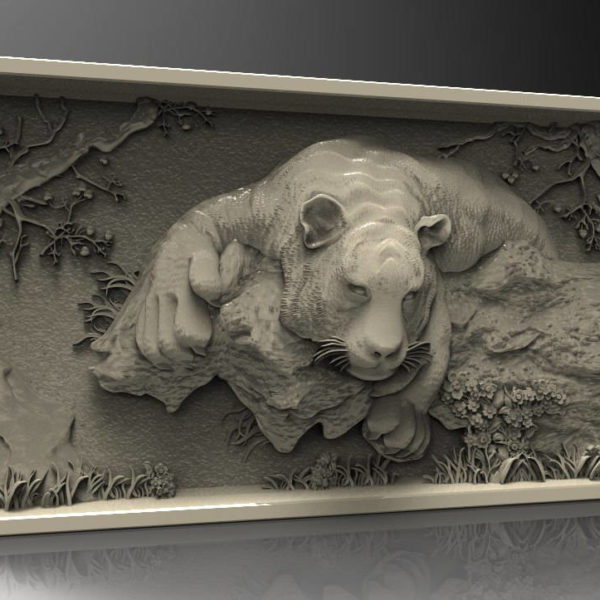 tiger cnc file model