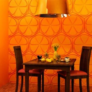 orange wall decor for cnc router