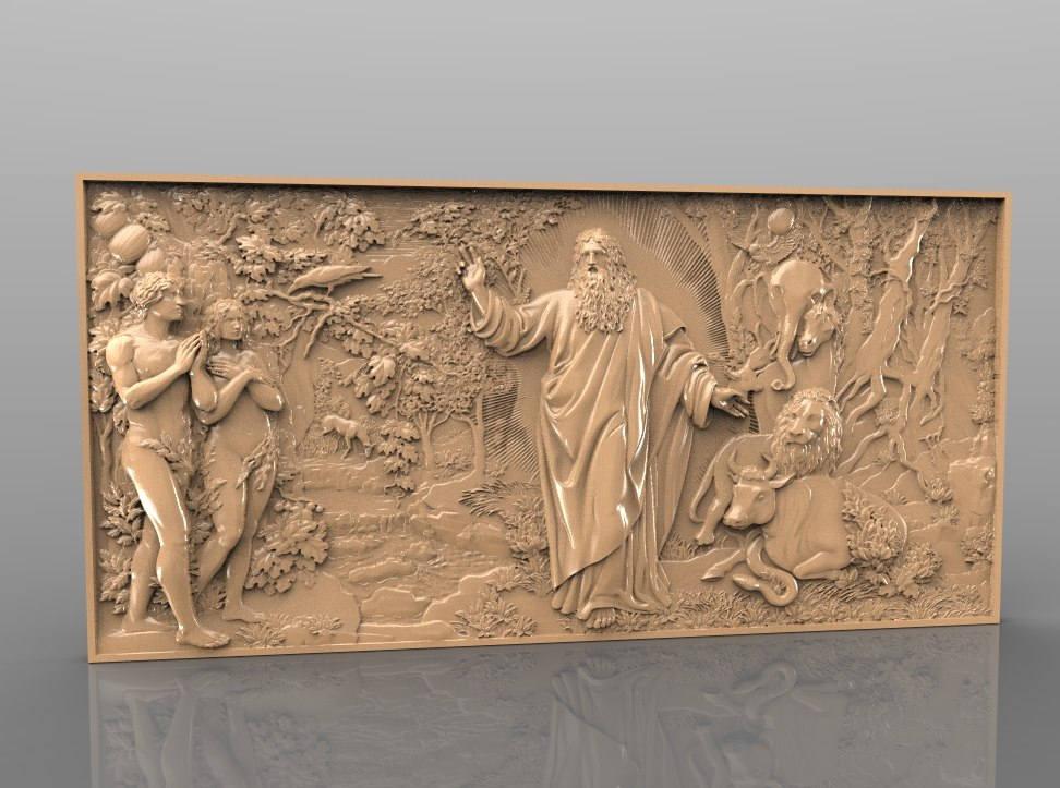 religion cnc file model wall decor