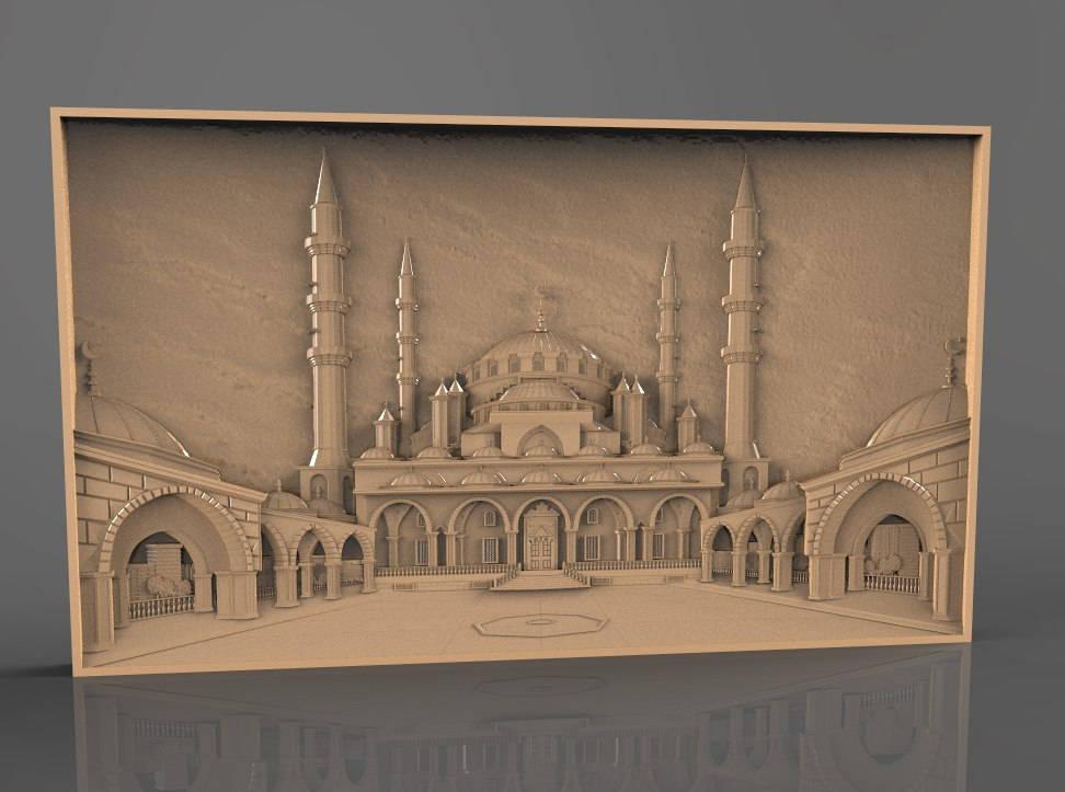 Mosque cnc file model
