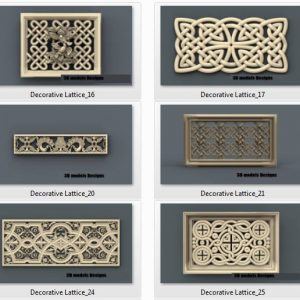 decorative lattice cnc file