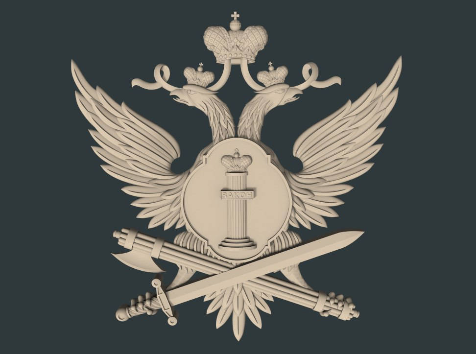 coat of arms cnc file model