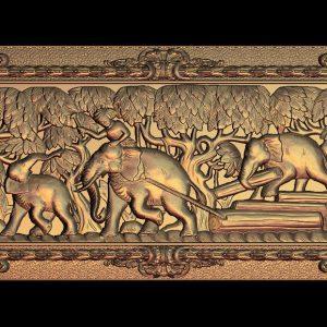 elephants cnc file model