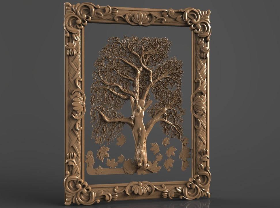2 3D STL Models Flowered Frame CNC Router Carving Machine Artcam aspire Cut3D