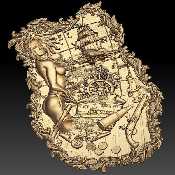 pirates cnc stl file model