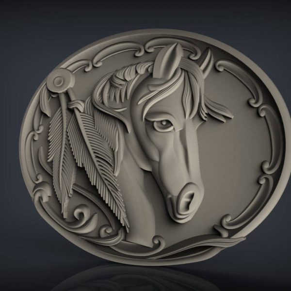 horse cnc file model