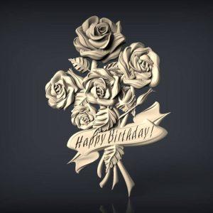 happy birthday cnc file