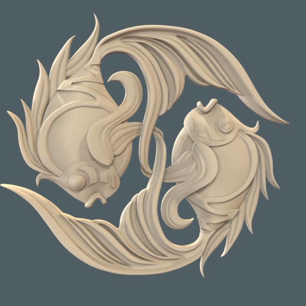 fishes cnc decor file