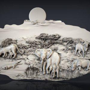 animals cnc file model