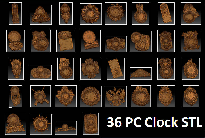 wall clcok collection for cnc