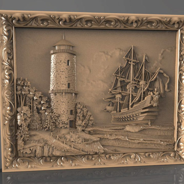 Ship and lighthouse cnc file