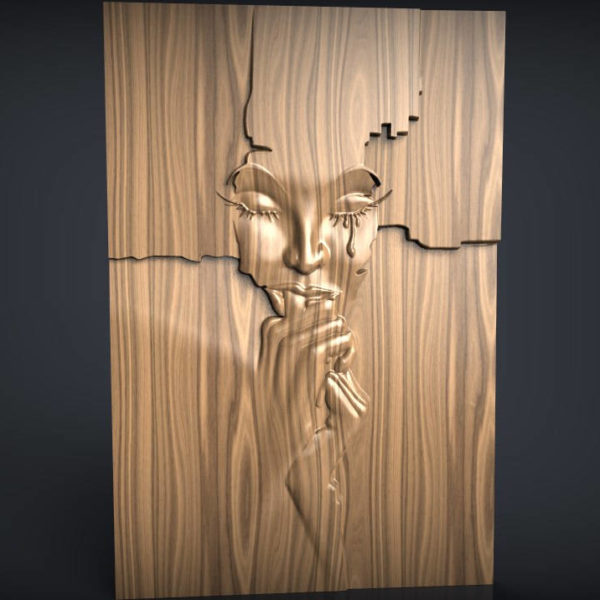 face wall decor cnc