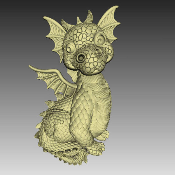 dragon cnc file model