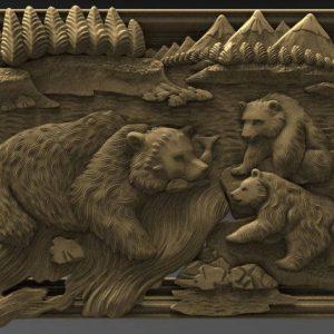 family of bears cnc file model