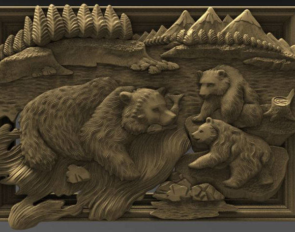 family of bears cnc file model