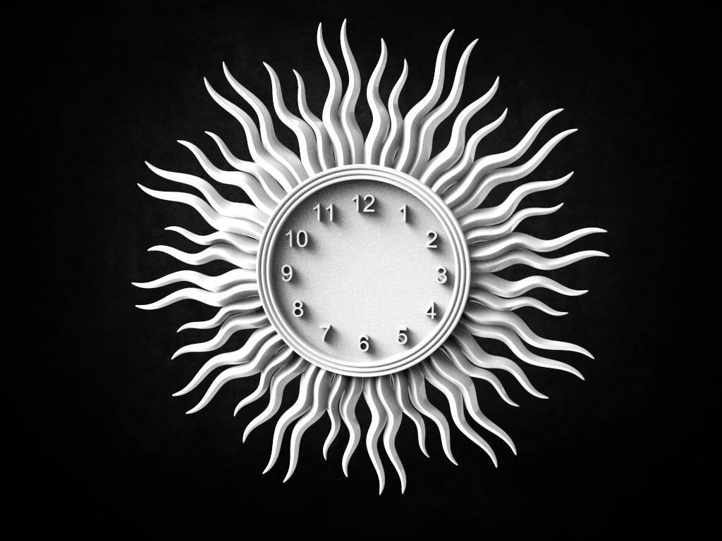 clock cnc stl file