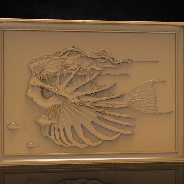 mermaid cnc file model