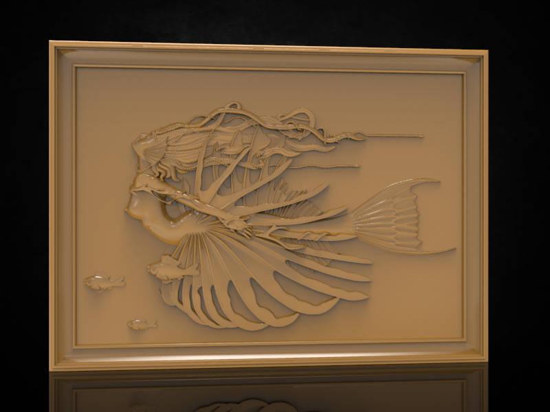 mermaid cnc file model
