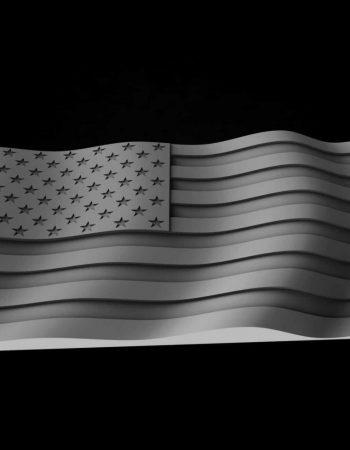 USA Flag STL Model for CNC Router