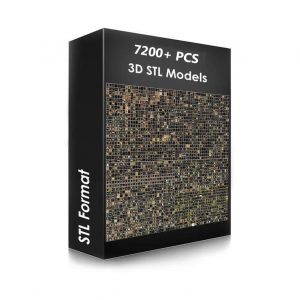 7200+ pcs 3D STL Models Collection Set