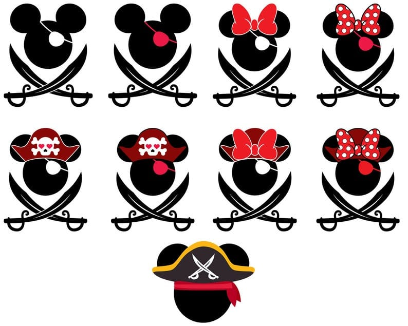 Mickey Mouse SVG, EPS, DXF, PNG Files