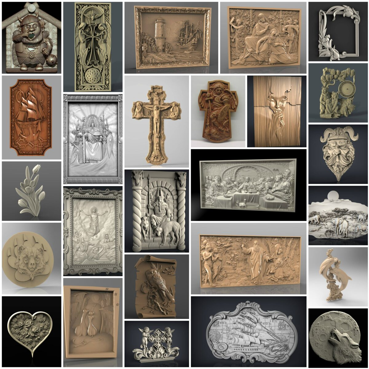 7000+ pcs 3D STL Models Collection Set