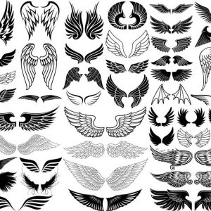 Wings SVG DXF EPS PNG Bundle Files