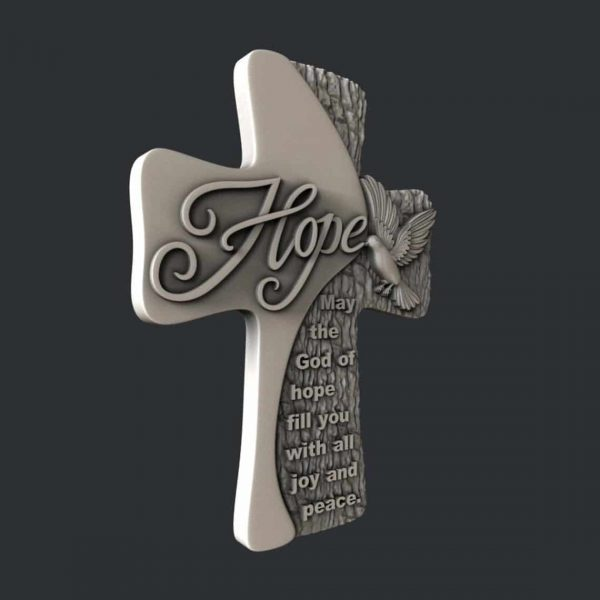 Hope Cross 3D STL Model