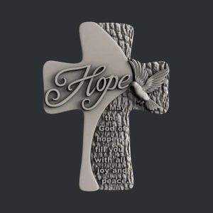Hope Cross 3D STL Model for CNC Router or 3D Printer