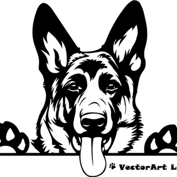 German Shepherd SVG Clipart Vector Cricut Cut Cutting