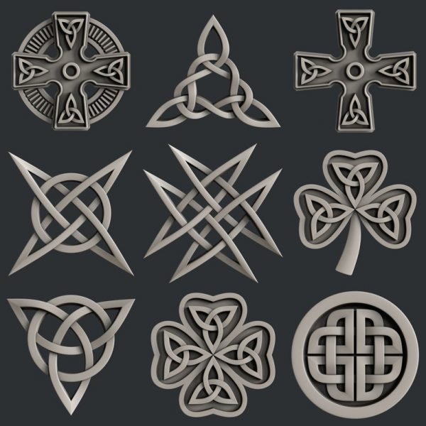 Celtic Decors 3D STL Models Collection Set