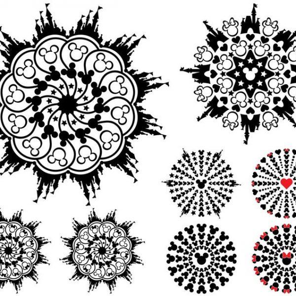 Mickey Mouse SVG Disney Mandala SVG Mickey Mandala SVG Vector Files
