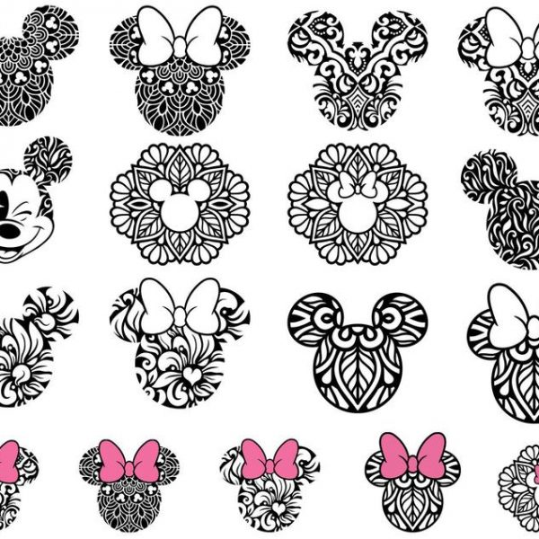 Mickey Mouse SVG Minnie Mouse SVG Mickey Head Minnie Bow Vector SVG Files