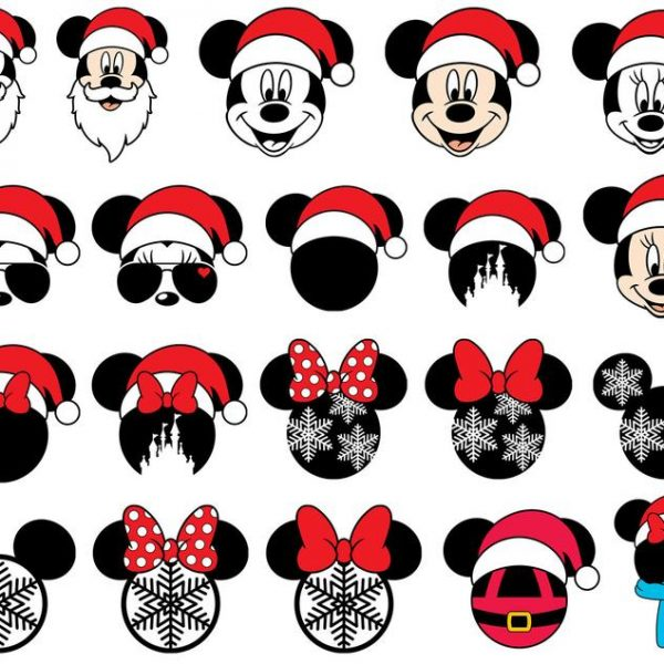Mickey Christmas SVG Disney Christmas SVG Mickey Santa SVG