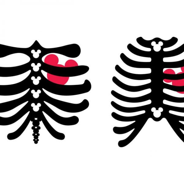 Mickey Mouse Rib Cage SVG Disney Halloween SVG Skeleton Vector SVG Files